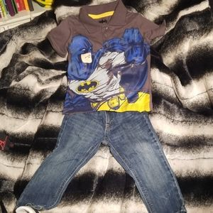Boy's Jean's and shirt set